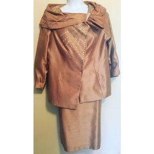 Milano Ornate Women's 2-Piece Skirt Suit NWOT